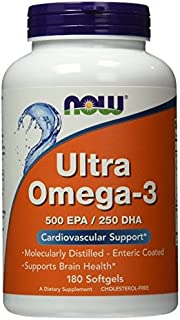 Now Foods Ultra Omega 3, Fish Oil Soft-gels, ValueItems Pack of 180Count Pack of 3 (540 Capsules Total)