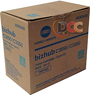 Genuine Konica Minolta TNP48C Cyan Toner for Bizhub C3350 C3850