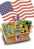 Süßigkeiten Box - USA Sweets - 17 SAURE Leckereien - Perfekte Geschenkidee - Box voller TOP Bestseller - 24,5x17,5x5cm
