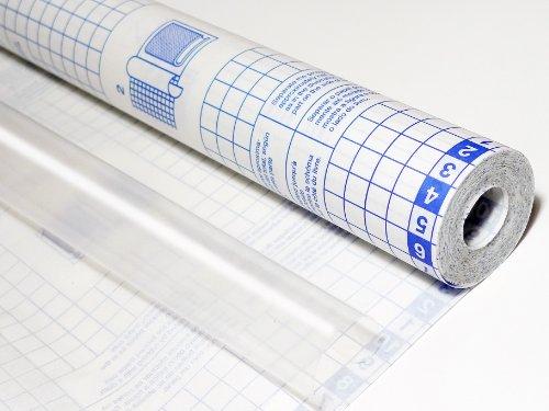 Sadipal 12866 - Rollo de plástico transparente adhesivo, 20 x 0.45