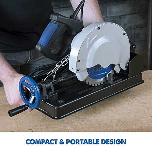 Evolution EVOSAW185-7-1/4 In TCT Steel Cutting Chop Saw (Aka Metal Cutting Saw, Saw for Cutting Metal) Instantly Workable Finish, Produces Virtually No Heat, Burrs or Sparks - Incl Mild Steel Blade