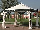 Seitenteil in Natur für Pavillon 'Korfu' (4er Pack)