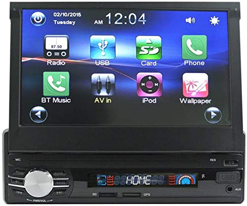 Ezonetronics 7 Zoll Autoradio Flip 1DIN Auto Stereo Play Telefon Musik über USB AM/FM Radio Bluetooth MP3 MP4 Player mit USB/SD 0013