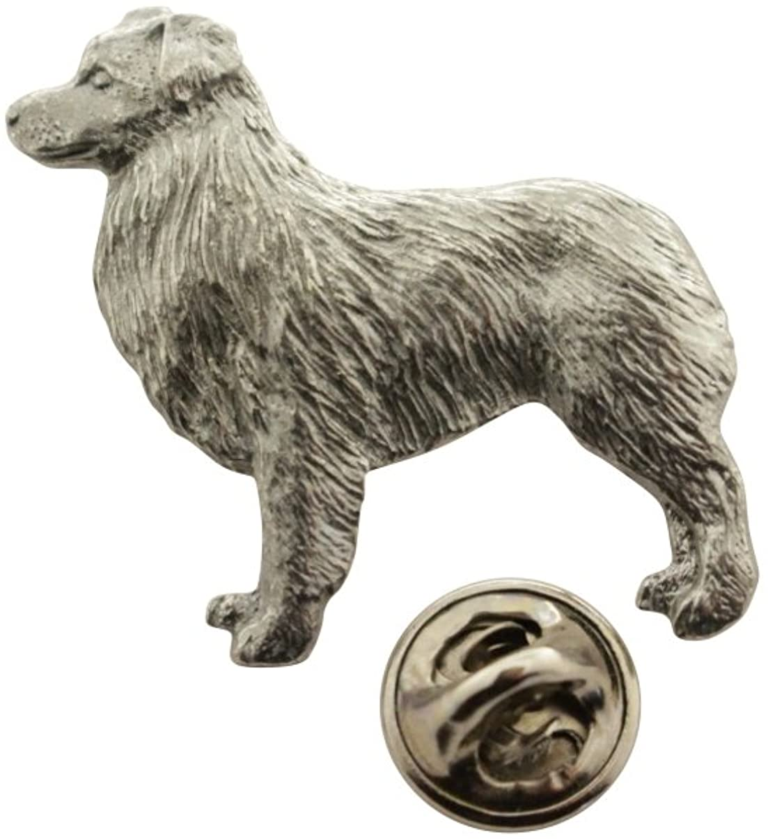Australian Shepherd or Aussie Shepard Pin ~ Antiqued Pewter ~ Lapel Pin ~ Sarah's Treats & Treasures