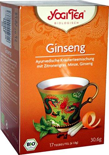 YOGI TEA® 10x Ginseng Tao Bio Yogi Tee I leckere ayurvedische Gewürz-Kräuter-Tee-Mischung - mit Zitronengras Minze Ginseng uvm. I 170 Tee-Beutel - echte Bio-Qualität I Herbal Tea 10 Päckchen