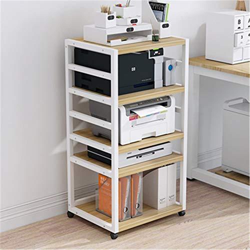 QuRRong Soporte de Impresora Impresora de Espacio Ajustable Piso de pie Multi-Capa Movible Chasis Chasis Rack Impresión y Copia de sujeción Todo en para Escáner de Máquina de Fax