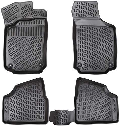 Elmasline Design 3D Gummimatten Set für OPEL Corsa C Baujahr 2000-2006 | Extra hoher 5cm Rand