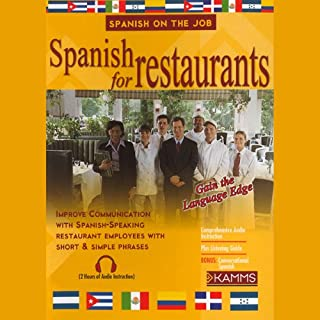 Spanish for Restaurants audiobook cover art