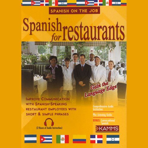 Spanish for Restaurants audiobook cover art