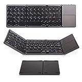 IKOS 3 in 1 Tastiera Pieghevole Bluetooth Senza Fili Portatile con touchpad e Ricaricabile per PC,...