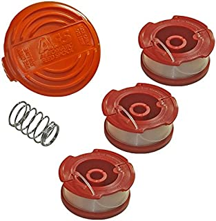Black and Decker Genuine OEM Replacement Cap, Spring and (3) Spools