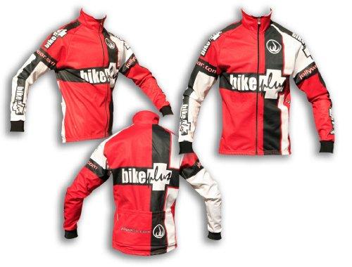 Jolly Wear Bike Plus Herren-Fahrradjacke, Winterjacke, rot, Größe S XL rot