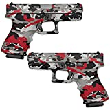 Wrap Compatible with Pistol - Red Camo | MightySkins GunWraps Protective, Durable, and Unique Vinyl Handgun Wrap Kits | Easy to Apply, Remove, and Change Styles | Made in The USA