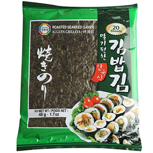 Surasang DIY Gimbap Seaweed Sheet, 20 Sheets, Pack of 1