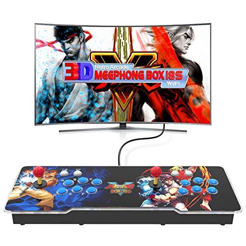 MEEPHONG Pandora Box 18s 3D WiFi Game Console, Home Retro Multijugador Arcade Console 4500 Juego Todo en Uno (160 Juegos En 3D),Maquina Arcade Console Equipped with Dual Joysticks and 6 Button