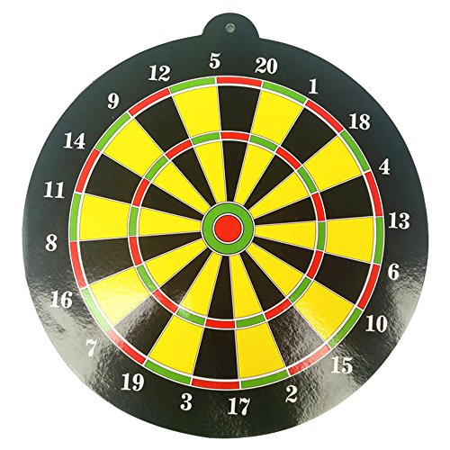 Naisicatar Magnetic Dart Board Set Reversible Magnetic Dartboard Standard-Darts mit 1 Dart für Erwachsene Office Home oder Outdoor Games Party-Geschenke