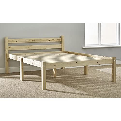 43dd4ffbacd5 Double Pine bed 4FT Small Double Pine Bed frame - HEAVY DUTY extra wide  solid base