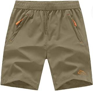 TBMPOY Men's Outdoor Sports Quick Dry Workout Running Shorts Zipper Pockets