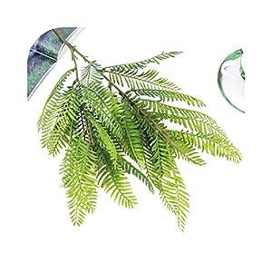 Dreamture 80cm Large Artificial Milan Plant Leaves Fake Eucalyptus Silk False Leafs Green Simulation Tree Foliage for Garden Home Decor-66cm Fern 1