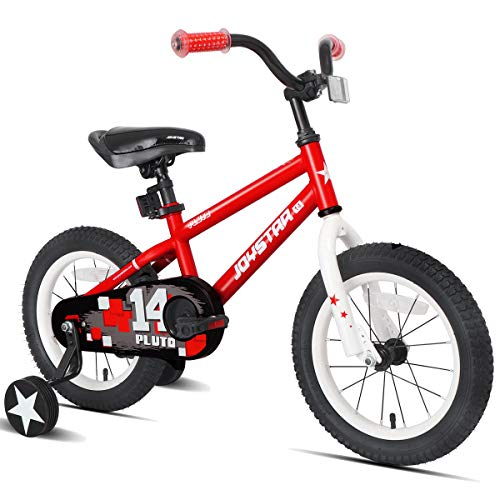 "JOYSTAR 16"" Pluto Kids Bike with Training Wheels for Ages 4 5 6 Year Old Boys & Girls, Red"