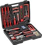 Meister Haushaltskoffer 60-teilig - Werkzeug-Set - Werkzeug für den täglichen Gebrauch / Werkzeugkoffer befüllt / Werkzeugset / Werkzeugbox komplett mit Werkzeug / Werkzeugsortiment /...
