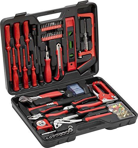 Meister Haushaltskoffer 60-teilig - Werkzeug-Set - Werkzeug für den täglichen Gebrauch / Werkzeugkoffer befüllt / Werkzeugset / Werkzeugbox komplett mit Werkzeug / Werkzeugsortiment / 8973630