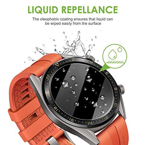 apiker [4 Stück] Schutzfolie für Huawei Watch GT Classic und GT Active, Huawei Watch gt Ative Panzerglas mit 9H-Härte, Kratzfest, blasenfrei, hohe Definition, hohe Empfindlichkeit - 5