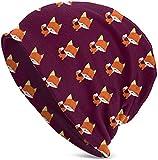 JJsister Wintermütze,Strickmütze,Beanie Mütze Playful Baby Foxes Beanie Hat Classic Warm Hat Stretch Casual Headwear