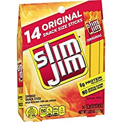 Slim Jim Snack-Sized Smoked Meat Stick, Original Flavor, Keto Friendly, .28 Oz. 14-Count ( Packaging