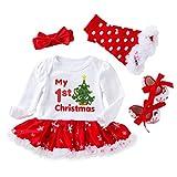cover Weihnachten Baby Kleidung Mädchen Mein Erstes Weihnachten Babystrampler Rock Socken Schuhe 4 Stück Set Babykleidung