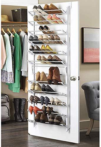 Zapatero 36 pares, organizador de zapatos para colgar en la puerta, 12 Niveles Estantes Ajustable Soporte Organizador, Almacenamiento zapatos