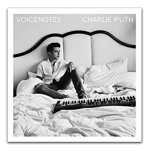NR Poster e Stampe Charlie Puth Voicenotes 2018 Pop Music Album Cover Art Poster Canvas Painting Home Decor-50x50cm Senza Cornice