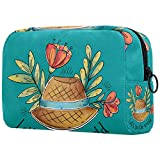 Bolsa cosmética femenina del viaje del bolso cosmético, impermeable doble cremallera grande cosmética bolsa de almacenamiento cosmética, mandala india