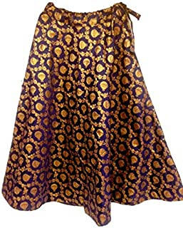 FEMEZONE Brocadesilk Ethnic Traditional Lehenga/Skirt for Party/Festival function,nevy blue