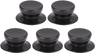 Pomos de tapa para sartenes y ollas, tapas de agarre de fijación de repuesto resistente al calor, mango de plástico para cocina o asesoramiento, cubierta negra 55 mm