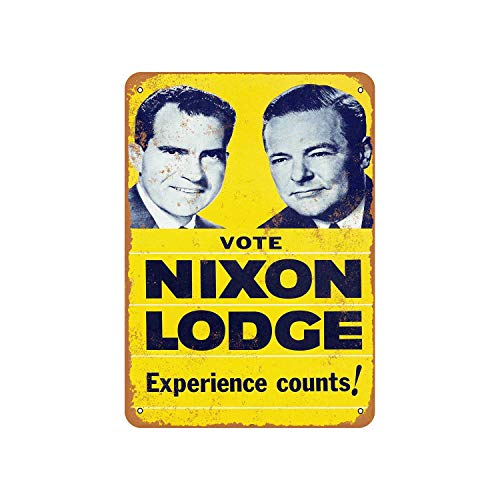 Vote Nixon and Lodge Vintage Aluminum Metal Signs Tin Plaques Wall Poster for Garage Man Cave Cafee Bar Pub Club Shop Outdoor Home Decoration 12