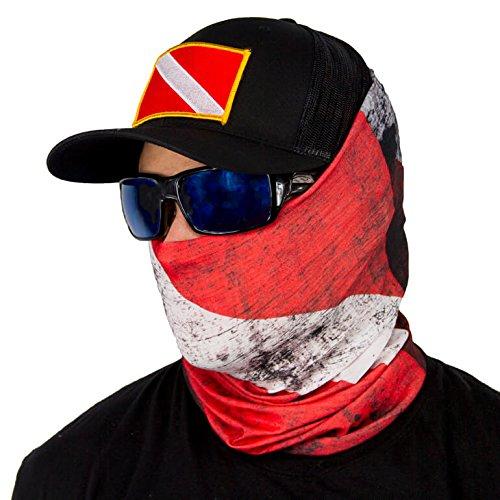 Bandala SA Company SA Fishing Face Shields de calidad, pañuelo multifunción textil con SPF 40, máscara protectora, Dive Flag