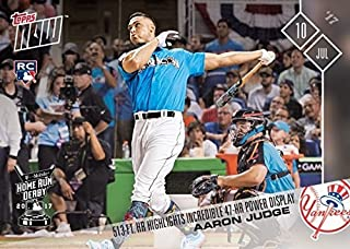 2017 Topps Now Baseball #345 Aaron Judge Rookie Card - Hits 513-FT Home Run During Home Run Derby - Only 5,352 made!