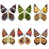 Gusengo Mariposas Voladoras Juguete, Juguete Mágico, Mariposa Voladora, Banda De Goma Mariposa, Flying Butterfly, Regalo Sorpresa De Mariposa,Adecuado para Regalos De Cumpleaños