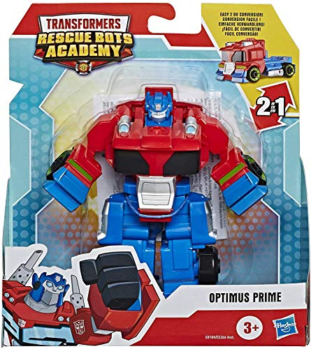 EDT Transformers Rescue Bots Academy 2 In 1 Robot Action Figure - Optimus Prime