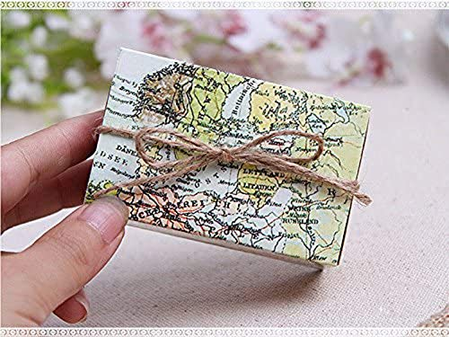Worldoor 50pcs Casamento World Map Wedding Favor Boxes Wedding Candy Box Wedding Favors And Gifts Event & Party Decoration Supplies