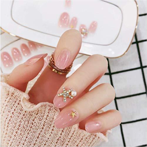 Fashion Press On Nails Style Artificielle Faux Faux Ongles Conseils Étoiles Design 24pcs Full Cover Acrylique