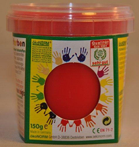 ökoNORM nawaro Fingerfarbe rot, 150g