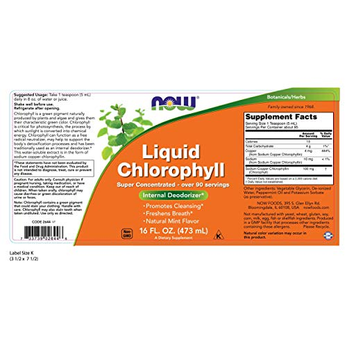 NOW Foods - Liquid Chlorophyll Triple Strength Natural Mint Flavor - 16 oz. by Now Foods