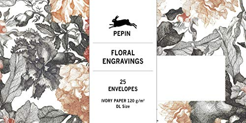 Floral Engravings: Envelopes (DL): 25 DL Envelopes (Set)