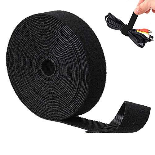 Velcro doble cara,Cable Ties Reutilizable de Sujeción de Alambre Bridas Cinta para...