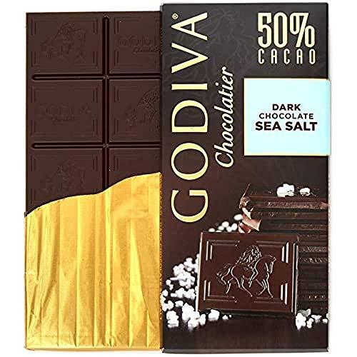 Godiva Tafel Dunkle Schokolade 50% Meersalz, 100 g