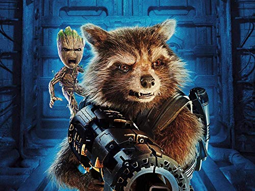 UIUY Puzzle 1000 Teile Erwachsene Puzzle Holzpuzzle Klassisches 3D Guardians of The Galaxy Vol. 2 Filmplakate DIY Collectibles Moderne Wohnkultur,75X50Cm