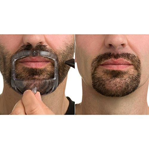 Mr Beard & Co Goatee Saver- Plantilla para barba, Peine para Barba,Guía para barba excelente para afeitar tu bigote, barba, chiva dejando una mejilla, cuello y mandíbula perfecta. Peine Incluido.