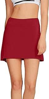 Honestyivan - Falda de Tenis de Golf para Mujer, Informal, Color Liso, Plisada, con Forro Corto y Faldas Deportivas